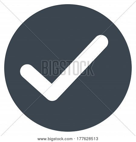 Apply vector icon. Flat smooth blue symbol. Pictogram is isolated on a white background. Designed for web and software interfaces.
