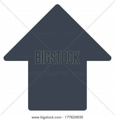 Arrow Up vector icon. Flat smooth blue symbol. Pictogram is isolated on a white background. Designed for web and software interfaces.