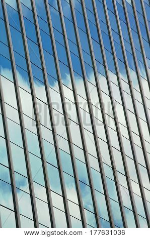 Abstract architecture photography of a building with windows