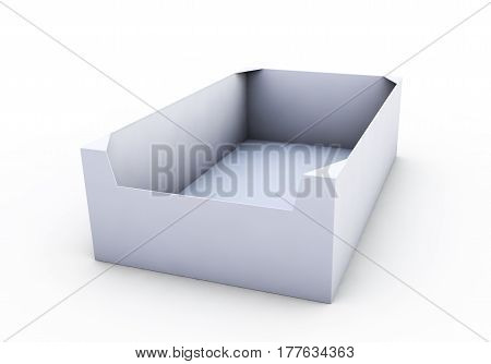 White box. High resolution 3D illustration with clipping paths.