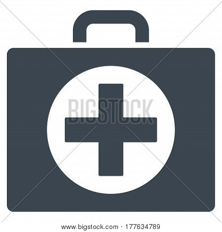 First Aid vector icon. Flat smooth blue symbol. Pictogram is isolated on a white background. Designed for web and software interfaces.