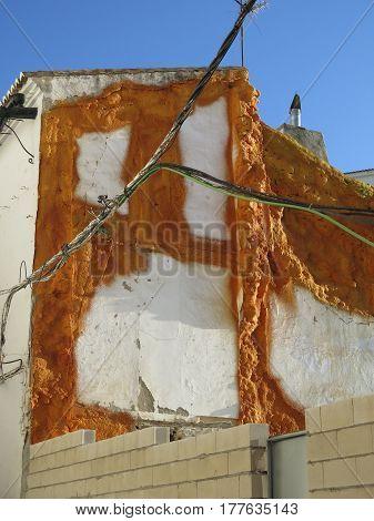 Polyurethane Spray Foam On Building