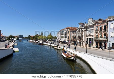 View of the Waterway of Aveiro Portugal