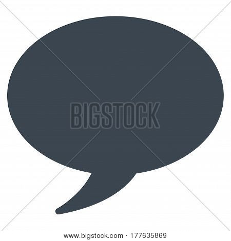 Message Balloon vector icon. Flat smooth blue symbol. Pictogram is isolated on a white background. Designed for web and software interfaces.