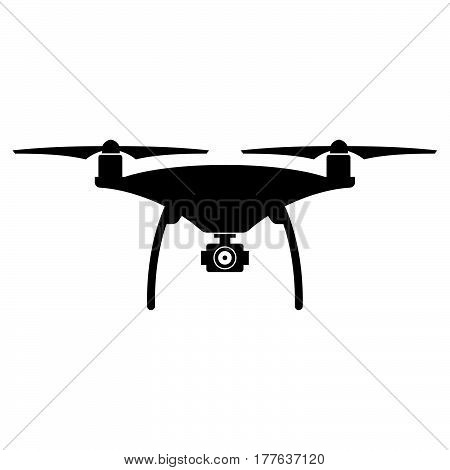 Drone ( shade picture ) on white background