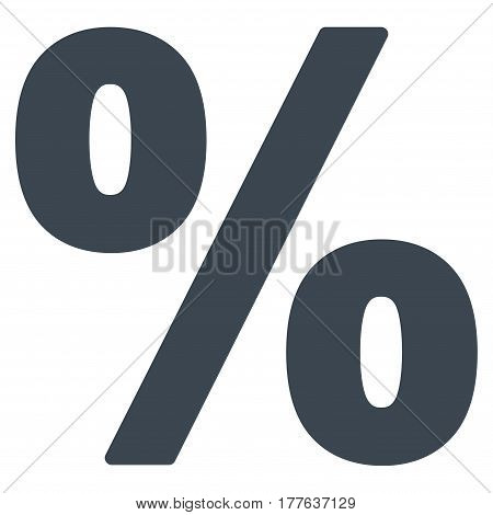 Percent vector icon. Flat smooth blue symbol. Pictogram is isolated on a white background. Designed for web and software interfaces.