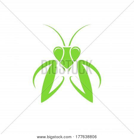 Praying mantis on white background. (EPS 10)