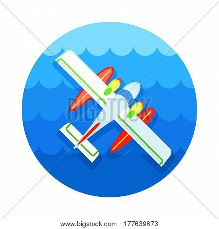 Hydroplane vector icon. Travel. Summer. Summertime. Holiday. Vacation eps 10