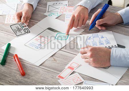 ux designer designing designers web brand phone smartphone layout geek business
