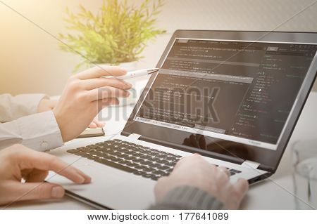 developer web code tech coding program programming html screen