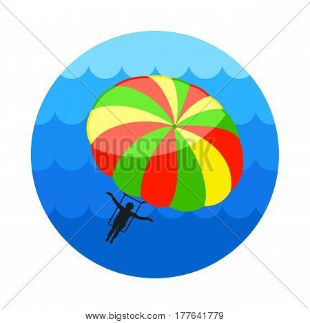 Parasailing. Summer kiting activity vector icon. Beach. Summer. Summertime. Holiday. Vacation eps 10