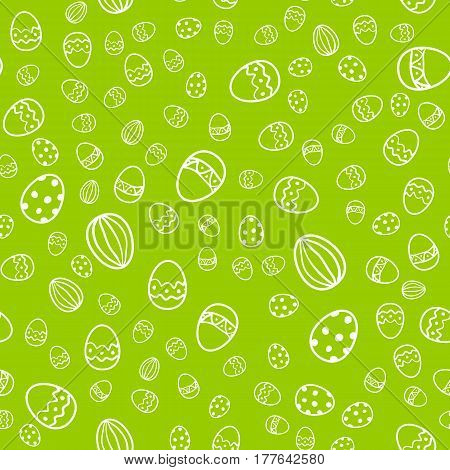 Easter egg seamless vector pattern. Holiday background