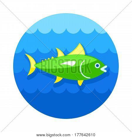 Tuna vector icon. Fishing. Summer. Summertime. Holiday. Vacation eps 10