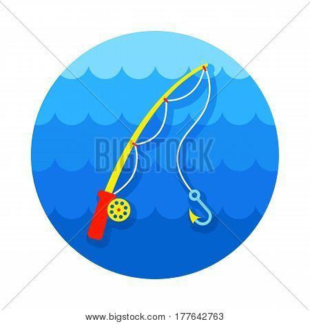 Fishing Rod vector icon. Beach. Summer. Summertime. Holiday. Vacation eps 10
