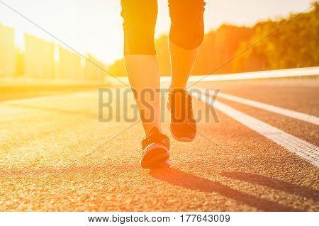 run runner sport shoe road jogging flare sunset street fitness cross sunbeam success running sportswear