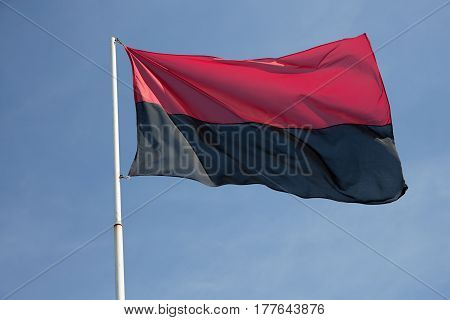 Red And Black Flag Of Ukrainian Nationalists In Ukraine A Political Flags The Congress Of Ukrainian