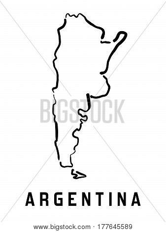 Argentina Simple Map