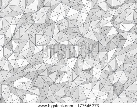 2D illustration - White low poly texture