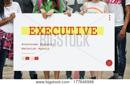 People holding investment startup plan marketing strategy banner