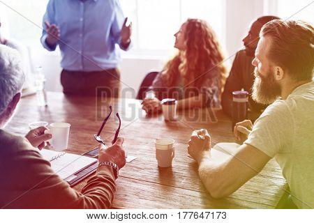 Diverse People Meeting Listening to Speaker Meeting