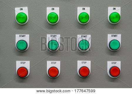 Control switch panel, switch, electric, industrial, manufacturing
