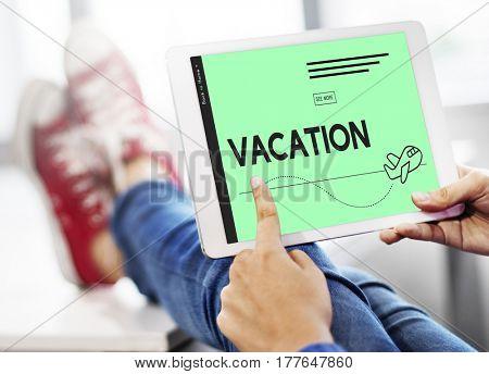 Holiday Vacation Travel Plane Symbol