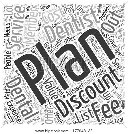 Are Discount Dental Plans Worth The Expense text background wordcloud concept