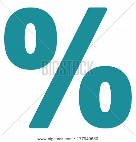 Percent vector icon. Flat soft blue symbol. Pictogram is isolated on a white background. Designed for web and software interfaces.