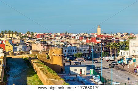 Cityscape of El Jadida town in Morocco, North Africa