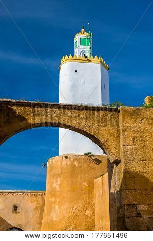 Minaret at Mazagan converted from a lighthouse - El-Jadida, Morocco, North Africa