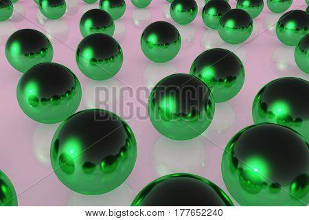 Ball Reflection Green