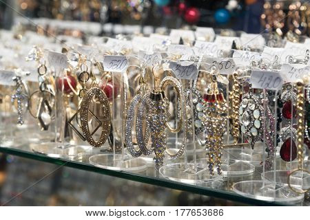 Volgograd, Russia - November 03.2016. Jewelry in shopping and an entertainment complex Diamant