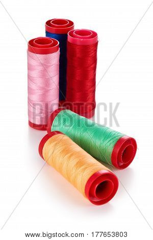 Set Of Colorful Spools.