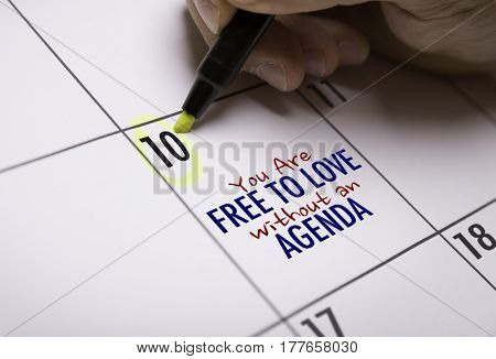 You Are Free to Love Without an Agenda