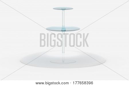 Round Of Glass Stand
