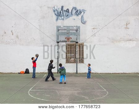 Kds Playing Basketball