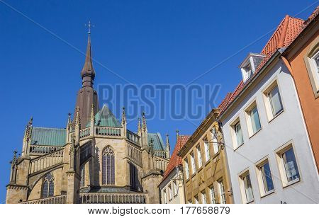 St. Marien Church And Facedes Of Old Houses In Osnabruck