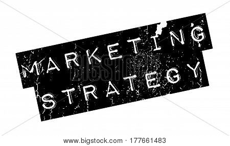 Marketing Strategy rubber stamp. Grunge design with dust scratches. Effects can be easily removed for a clean, crisp look. Color is easily changed.