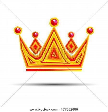 crown royal queen vector king symbol emperor icon stones gold logo