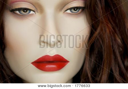 Closeuo portrait of a retail store Mannequin [Not Human] poster