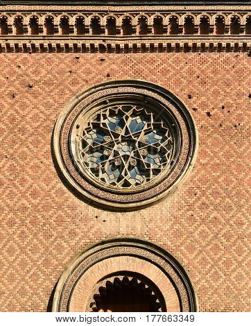 Timisoara city Romania synagogue building architecture detail