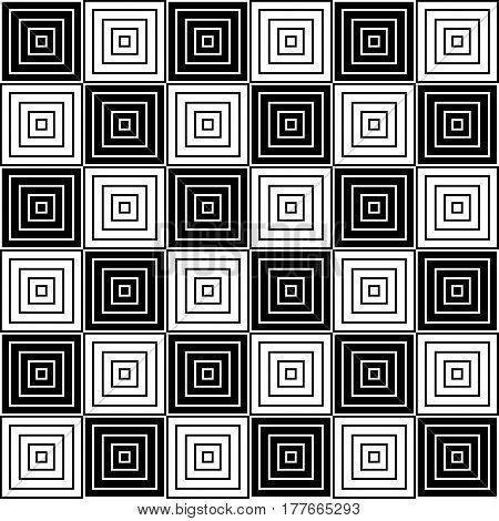 Black and white geometric texture. Seamless background.