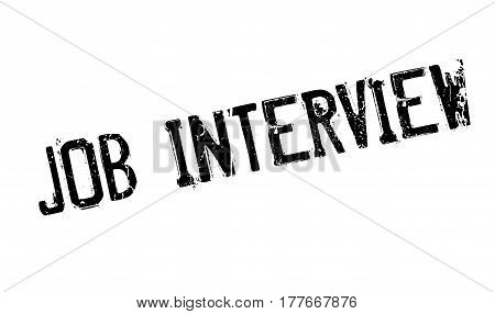 Job Interview rubber stamp. Grunge design with dust scratches. Effects can be easily removed for a clean, crisp look. Color is easily changed.