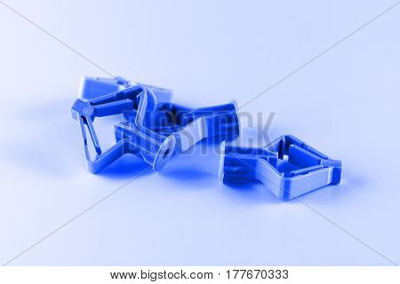 group of fasteners for fixing during construction