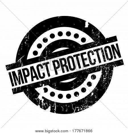 Impact Protection rubber stamp. Grunge design with dust scratches. Effects can be easily removed for a clean, crisp look. Color is easily changed.
