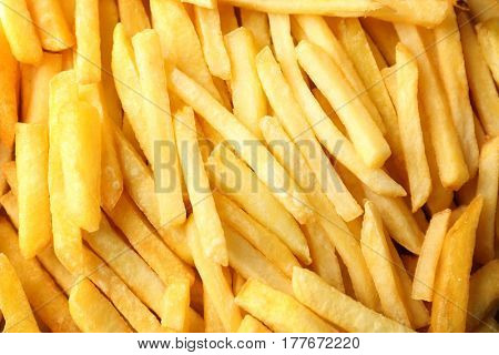 Delicious fries as background