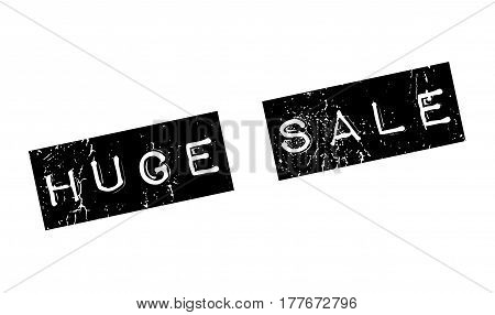 Huge Sale rubber stamp. Grunge design with dust scratches. Effects can be easily removed for a clean, crisp look. Color is easily changed.