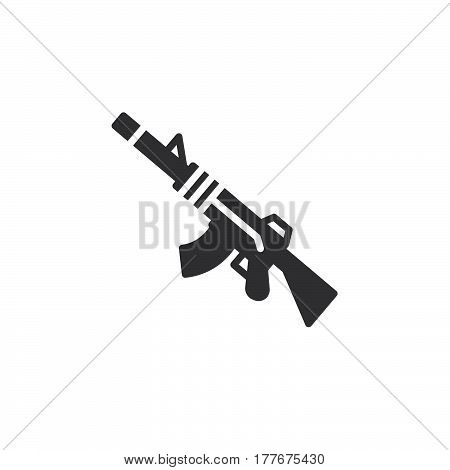 Automatic rifle icon vector filled flat sign solid pictogram isolated on white. Symbol logo illustration