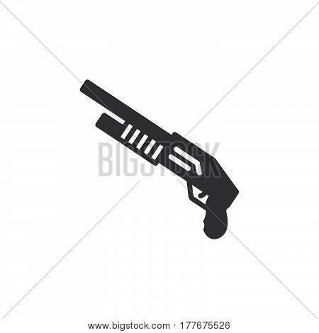 Shotgun icon vector filled flat sign solid pictogram isolated on white. Symbol logo illustration