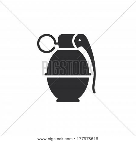 Hand grenade icon vector filled flat sign solid pictogram isolated on white. Symbol logo illustration